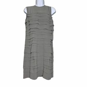 Comme des Garcons Gray Tiered Raw Hem Silk Spring